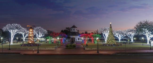 The Marktplatz is the central gathering place for Fredericksburg. [Trish McCabe-Rawls]