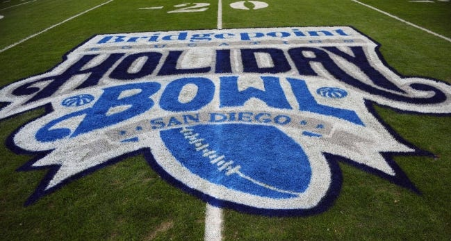 The Holiday Bowl, pitting the Pac-12 against the ACC, is one of 10 bowl games already canceled for this season. [Christopher Hanewinckel/USA TODAY Sports]