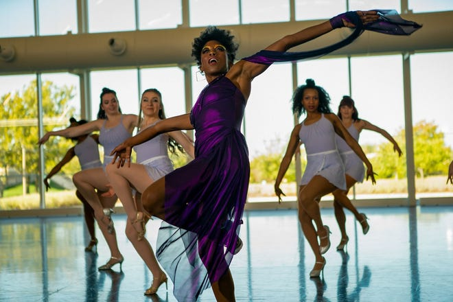 """Tulsa musician Branjae performs as Sugar Plum in the hip-hop holiday movie """"Finding Carlos."""" [Zachary Burns photo]"""