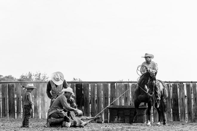 """French-born photographer Anouk Masson Krantz's """"Legacy"""" is featured in her solo exhibition """"West: The American Cowboy,"""" on view through Dec. 13 at the National Cowboy & Western Heritage Museum. [Photo provided]"""