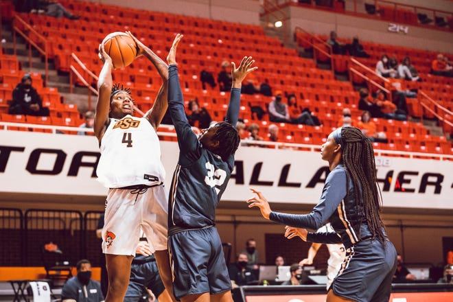 Natasha Mack had 10 points and nine rebounds to lead Oklahoma State to a 68-34 win over Southern on Wednesday at Gallagher-Iba Arena in Stillwater. [OSU ATHLETICS]