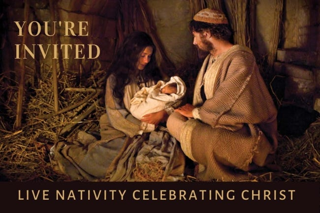 The Church of Jesus Christ of Latter-day Saints will host a free drive-through living Nativity event from 6 to 8:30 p.m. Dec. 12 at 15700 N Pennsylvania. [Image provided]