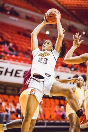 Oklahoma State's Lauren Fields is averaging 14.5 points per game. [Courtesy of OSU Athletics]