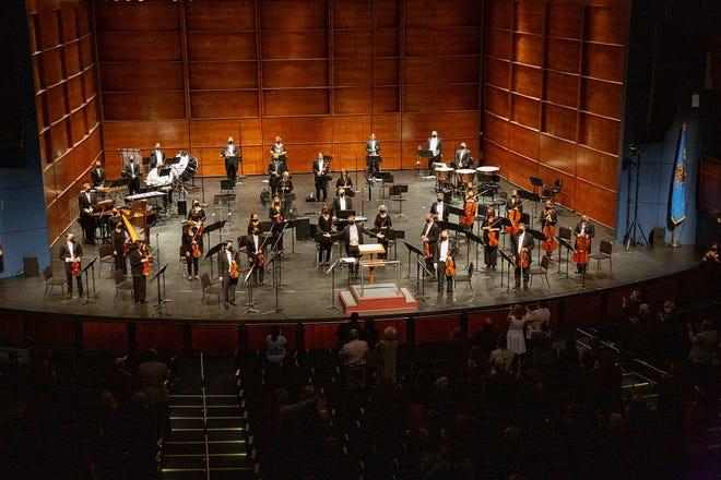The Oklahoma City Philharmonic performs an October concert. [Heather Hanson photo]