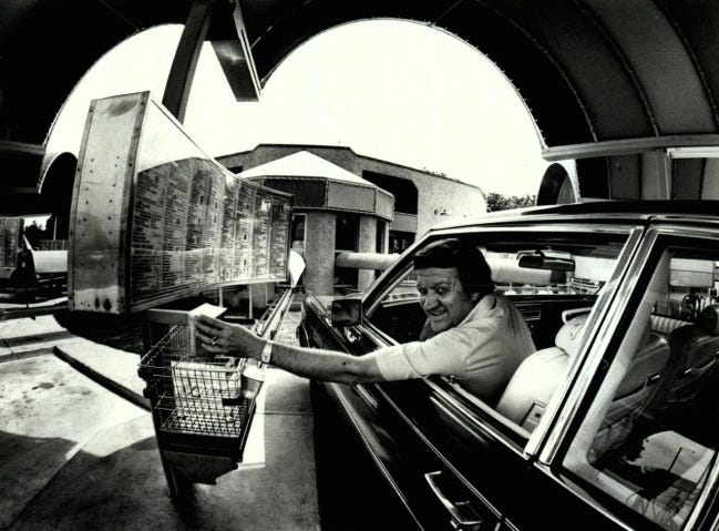 Marvin Jirous is shown at a Sonic in 1984. [Oklahoma Publishing Co. Photography Collection/OHS]
