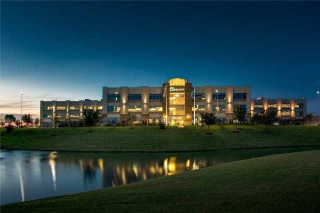Most of Paycom's some 2,900 Oklahoma employees work at its headquarters at 7501 W Memorial Rd. [PROVIDED]