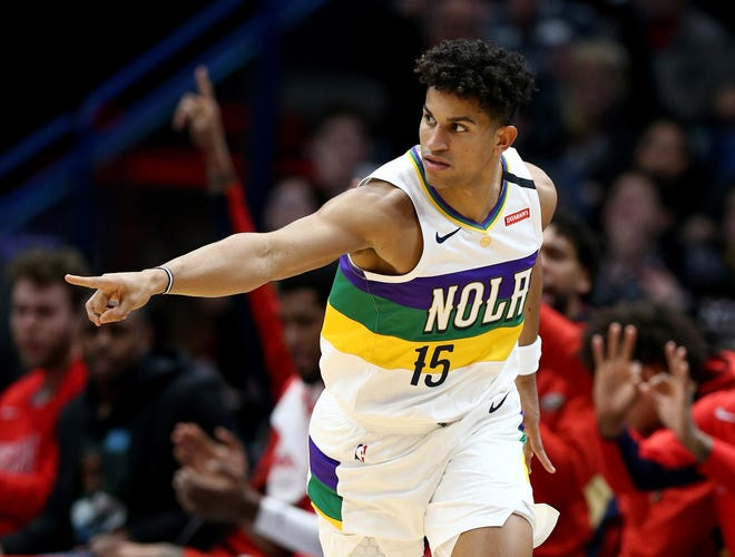 Former Pelicans guard Frank Jackson interviewed with the Thunder prior to the 2017 NBA Draft. More than three years later, Jackson has landed in Oklahoma City. [Stephen Lew/USA TODAY Sports]