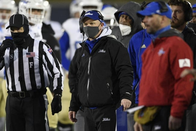 Coach Philip Montgomery and Tulsa have had eight game dates disrupted by COVID-19 this season. [AP Photo/Nick Wass]
