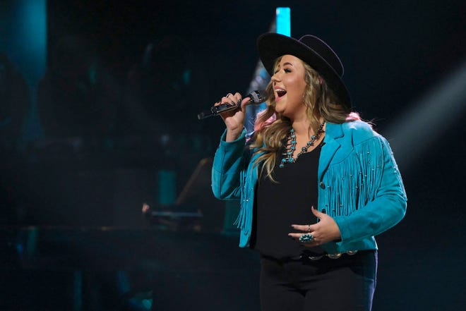 """Bailey Rae performs on the Live Top 9 Results episode Tuesday on """"The Voice"""" Season 19. [Photo by Trae Patton/NBC]"""