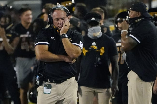 Southern Miss fired head coach Jay Hopson after one game, a season-opening loss to South Alabama on Sept. 3. Then interim head coach Scotty Walden resigned in late October to take the job at Austin Peay. [AP Photo/Rogelio V. Solis]