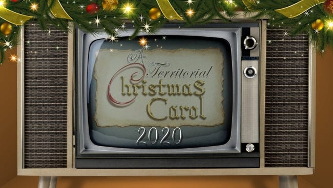 """Guthrie's Pollard Theatre is offering a virtual production of its signature holiday show, """"A Territorial Christmas Carol."""" [Logo provided]"""