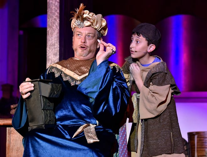 """Mark Johnson, left, and Austin Rindler appear in Painted Sky Opera's production of """"Amahl and the Night Visitors,"""" which returns for its third year at 7 p.m. Dec. 11 and 2 p.m. Dec. 12 at Freede Little Theatre at Civic Center Music Hall. [Photo provided]"""