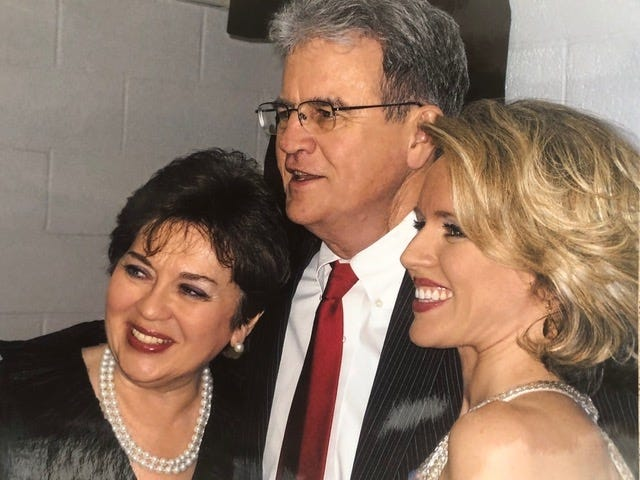 Carolyn, Tom and Sarah Coburn pose for a photo. [Photo provided]