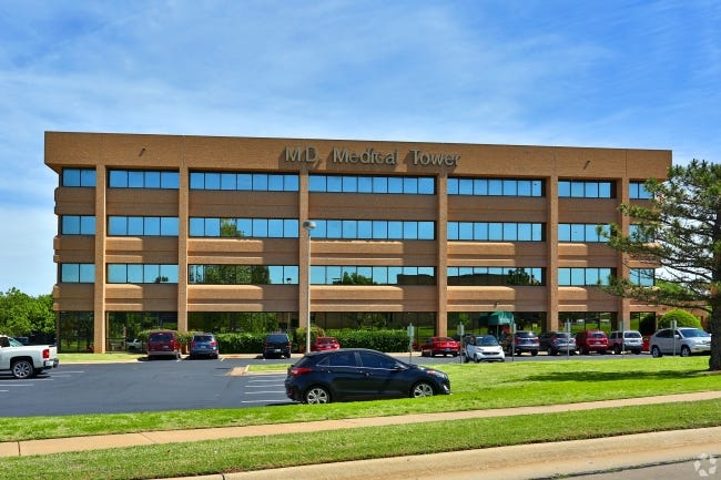 M.D. Medical Tower, 8121 National Ave. in Midwest City, has been acquired by an affiliate of Wiggin Properties, with plans to upgrade. [WIGGIN PROPERTIES]