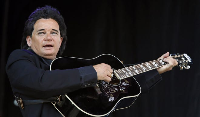 """Philip Bauer performs his """"The Legend of Johnny Cash"""" tribute show during the Oklahoma State Fair at State Fair Park in Oklahoma City, Sunday, Sept. 27, 2015. [The Oklahoman Archives]"""