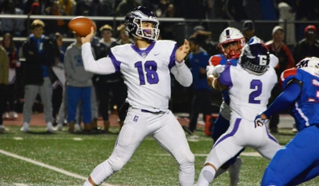 Caleb Williams, the top-rated quarterback in the 2021 class, committed to the Sooners in July. [Gonzaga TD Club photo via USA Today Sports]