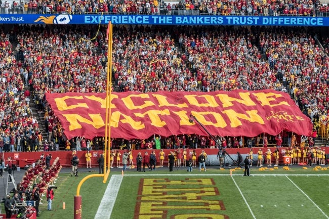Iowa State fans are among college football's most loyal, and now they're being rewarded. [PHOTO COURTESTY OF IOWA STATE ATHLETICS]