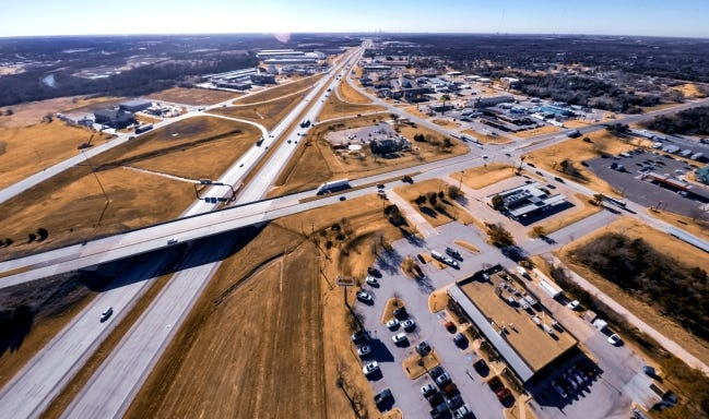 Surface work is set to begin next on Interstate 35 as reconstruction and improvements continue on the state's busiest highway. [CHRIS LANDSBERGER/THE OKLAHOMAN]