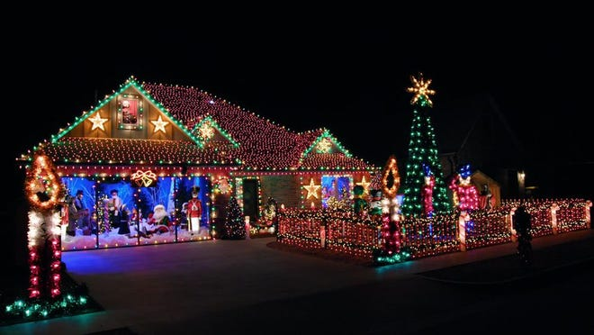 """The Sumner family of Jenks was featured last week on the TV series """"The Great Christmas Light Fight."""" [ABC photo]"""