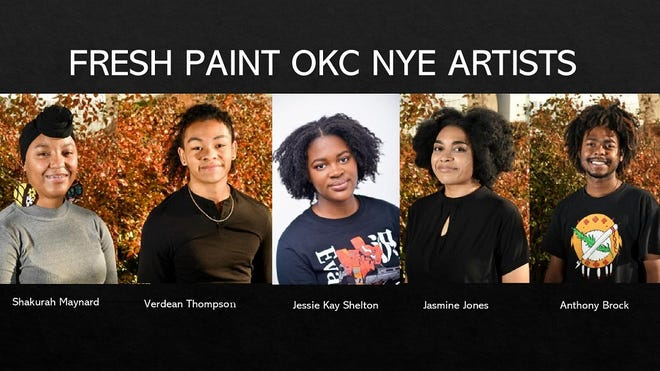 Five aspiring artists of color ranging in age from 18 to 25 - Anthony Brock, Jasmine Jones, Shakurah Maynard, Jessie Kay Shelton and Verdean Thompson - have been selected to premiere their murals during the Dec. 31 Opening Night event broadcast. [Photo provided]