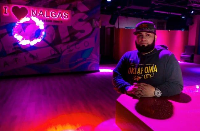 Señor Shots owner Erik Deloera poses for a photo at his Bricktown Bar in Oklahoma City, Okla. on Friday, Dec. 11, 2020. [Chris Landsberger/The Oklahoman]