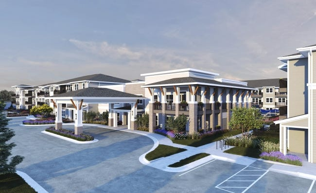"""Sparrow Partners, based in Austin, Texas, is building Sage Cobblestone, a 168-unit """"active adult"""" apartment complex at 4402 12th Ave. SE, in Norman. [IMAGE PROVIDED/SPARROW PARTNERS]"""