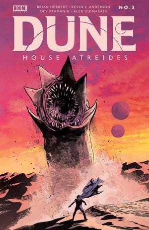 """Bill Sienkiewicz is the cover artist for """"Dune: The Graphic Novel,"""" the first part of which was released in November. The three-part graphic novel is set to adapt the entire """"Dune"""" novel. [Abrams ComicArts]"""