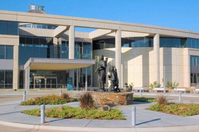 """""""Unconquered"""" by Allan Houser welcomes visitors to the Oklahoma History Center. [Provided/Oklahoma History Center]"""