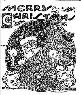 A Christmas day illustration is one of many festive drawings that could be seen in The Daily Oklahoman in December 1920.