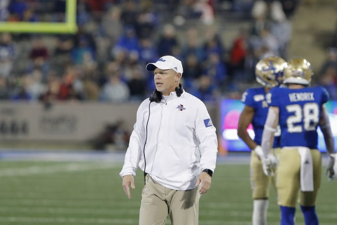 After six years, head coach Phillip Montgomery has his Tulsa Golden Hurricane one win away from a conference championship. [Alonzo Adams/USA TODAY Sports]
