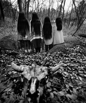 """Donna Ferrato's (American, born 1949) 2004 image """"Sioux Sisters, Pine Ridge Reservation, SD"""" is featured in the exhibit """"Shared Lives, Distant Places: Recent Acquisitions in Photography"""" at the Oklahoma City Museum of Art. [Photo provided]"""