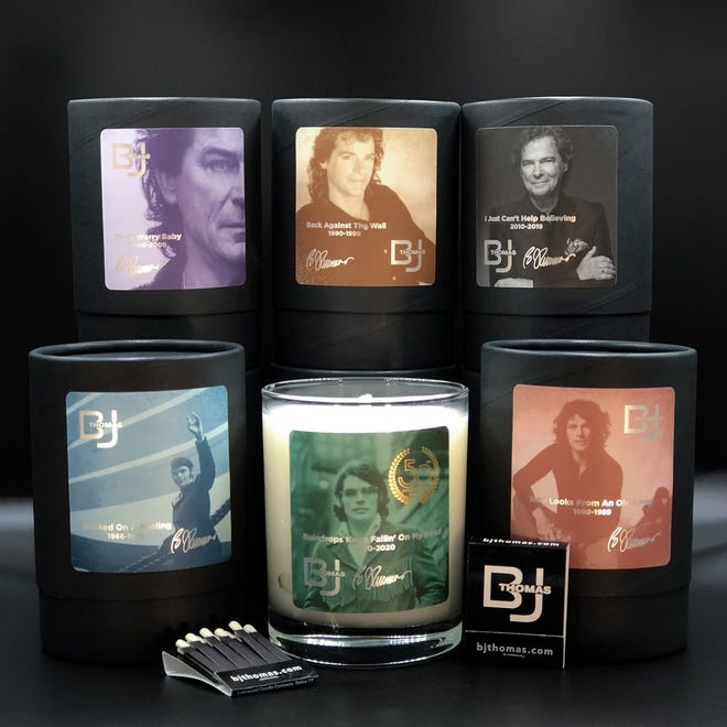 Grammy winner B.J. Thomas has partnered with Lakewood Candles to release a six-candle collection. [Photo provided]