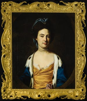 """The Oklahoma City Museum of Art's newest acquisition, the 1769 painting """"Anne Boutineau Robinson"""" by John Singleton Copley, was acquired in November in memory of lifetime museum trustee James C. Meade, and highlights the reinstalled Portraiture gallery of the permanent collection exhibition """"From the Golden Age to the Moving Image."""" [Image provided]"""