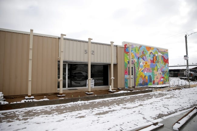 City Care's new night shelter in Oklahoma City, Dec. 16, 2020. The shelter will have 128 beds and is slated to open sometime in January. [Bryan Terry/The Oklahoman]