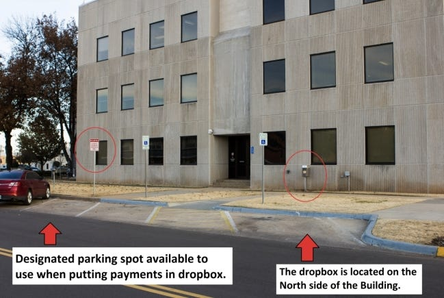 Cleveland County residents can pay their property taxes via a drop off box on the north side of the Cleveland County Courthouse, 201 S Jones Ave. [PHOTO PROVIDED]