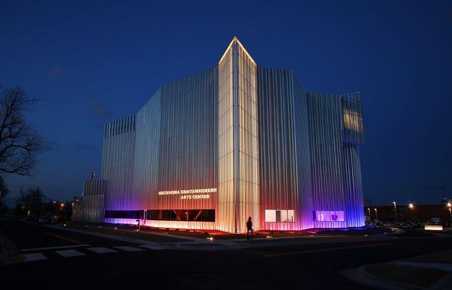 The new Oklahoma Contemporary Arts Center is shown on Tuesday, March 10, 2020, at dusk [Doug Hoke/The Oklahoman Archives]