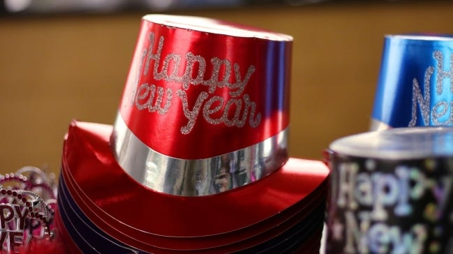Hats are for sale Dec. 31, 2019, at the Ronald J. Norick Downtown Library during Opening Night downtown Oklahoma City. Due to the COVID-19 pandemic, this year's Opening Night will be a virtual New Year's Eve celebration based at the Chickashaw Bricktown Ballpark. [Doug Hoke/The Oklahoman Archives]