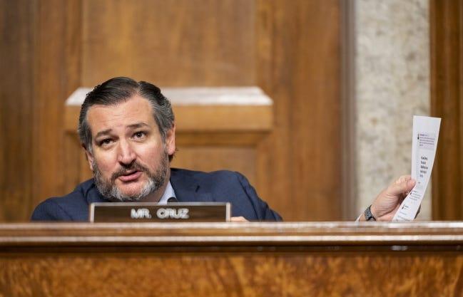 Sen. Ted Cruz, R-Texas, speaks during a Senate Judiciary Committee hearing Tuesday, Nov. 17, 2020. [AP file photo]