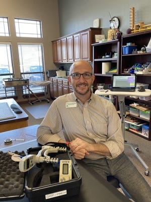 Oklahoma City physical therapist James Richardson still feels the effects of COVID-19 nine months after testing positive for the virus. He is participating in OMRF's COVID-19 antibody study, helping researchers understand the body's immune response to the virus. [OMRF]