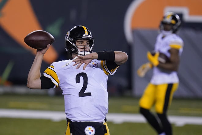Pittsburgh Steelers backup quarterback and former Oklahoma State star Mason Rudolph is expected to start on Sunday against the Cleveland Browns. [AP Photo/Michael Conroy]