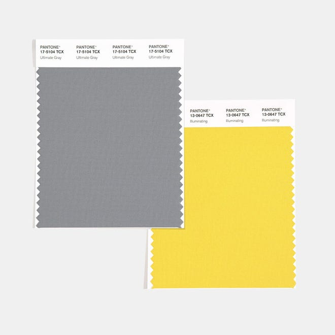 Pantone Color Institute named Ultimate Gray and Illuminating as its 2021 color of the year.