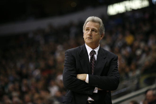 Former Kings coach Paul Westphal looks on during a game against the Mavericks in Dallas on Nov. 20, 2009. Westphal, the Hall of Fame basketball player, has died. The Suns confirmed his death Saturday, Jan. 2, 2021. [AP Photo/Tony Gutierrez]