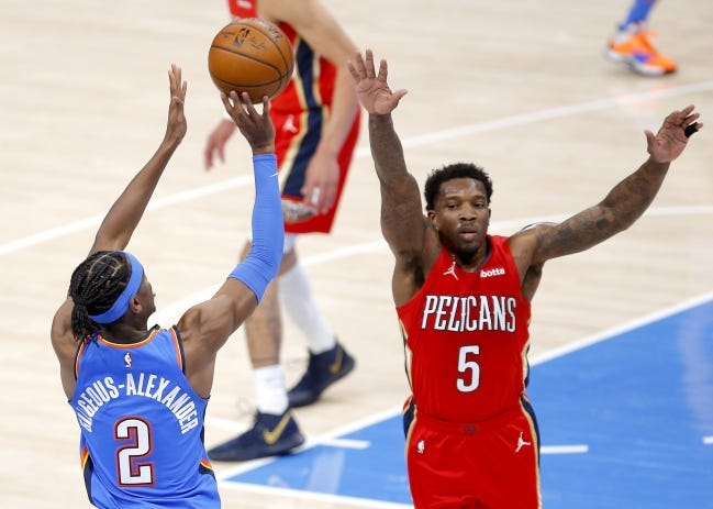 The Thunder and Pelicans will meet for the second time this season. [Sarah Phipps/The Oklahoman]