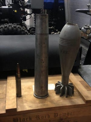The Oklahoma County Sheriff's Office bomb squad was called after these items were found during execution of search warrants in Luther. [Oklahoma County Sheriff's Office]