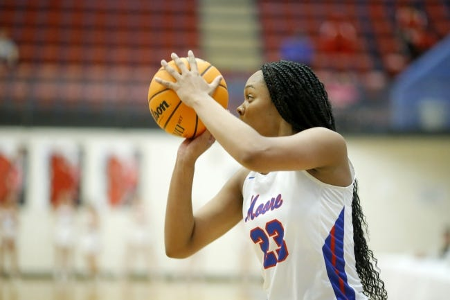 Texas signee Aaliyah Moore and the Moore Lions will try to win the Putnam City Invitational this weekend. [Bryan Terry/The Oklahoman]