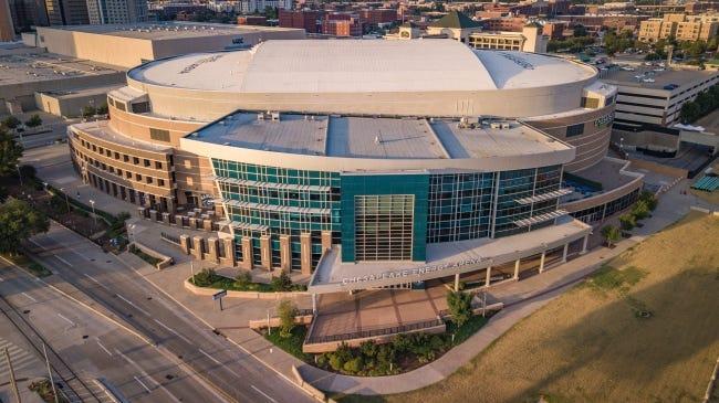 Chesapeake Energy Arena in downtown Oklahoma City is home to the NBA Thunder. [Dave Morris/The Oklahoman]
