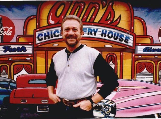 Ann's Chicken Fry House co-founder Alvin Burchett in 1993. [The Oklahoman Archives]