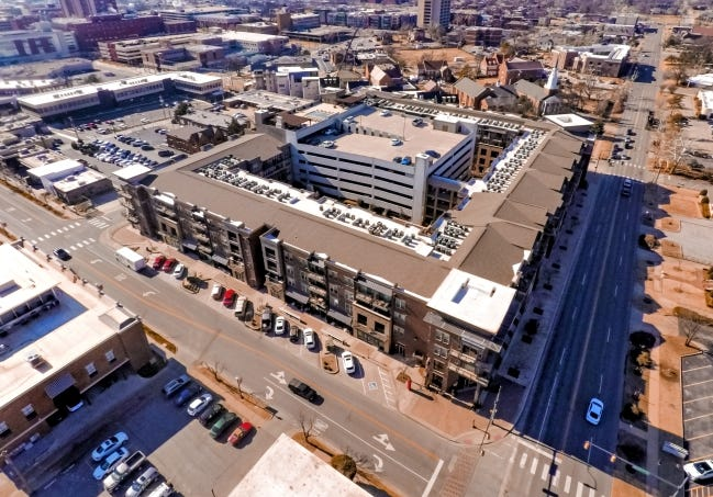 The Edge at Midtown Apartments located at 1325 N Walker Ave. was sold for $55 million on Tuesday, setting a new sales record of $220,000 per unit. [CHRIS LANDSBERGER/THE OKLAHOMAN]