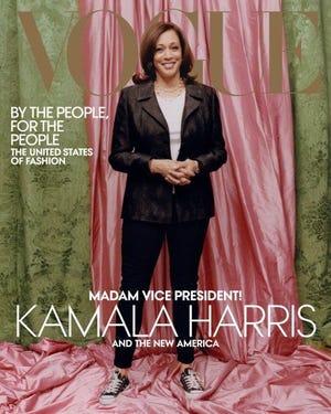 Vice President-elect Kamala Harris on the cover of the February Vogue magazine.