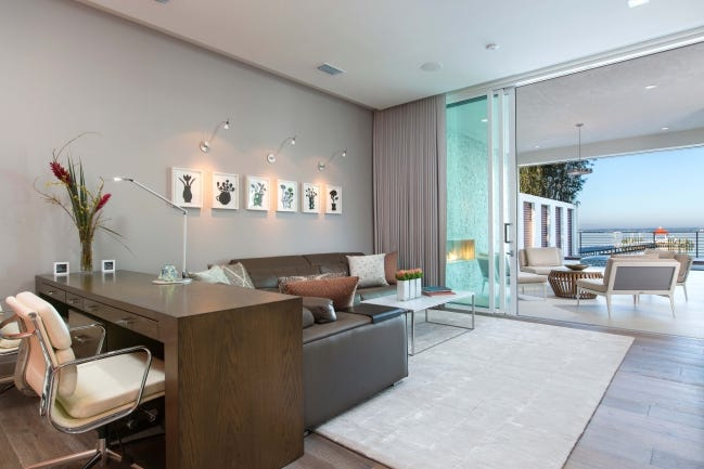 Dedicated home office space and outdoor living areas, as shown in this home by architect Phil Kean, are two pandemic-driven trends that will define homes long after the pandemic is over. [UNEEK IMAGE/PHIL KEAN DESIGN GROUP]